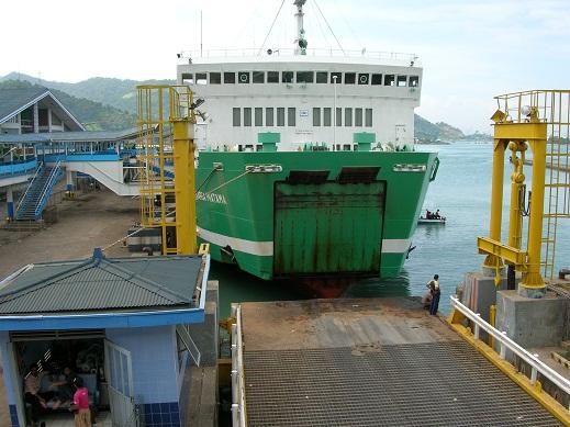 Dermaga Pelabuhan Penyeberangan Bakauheni